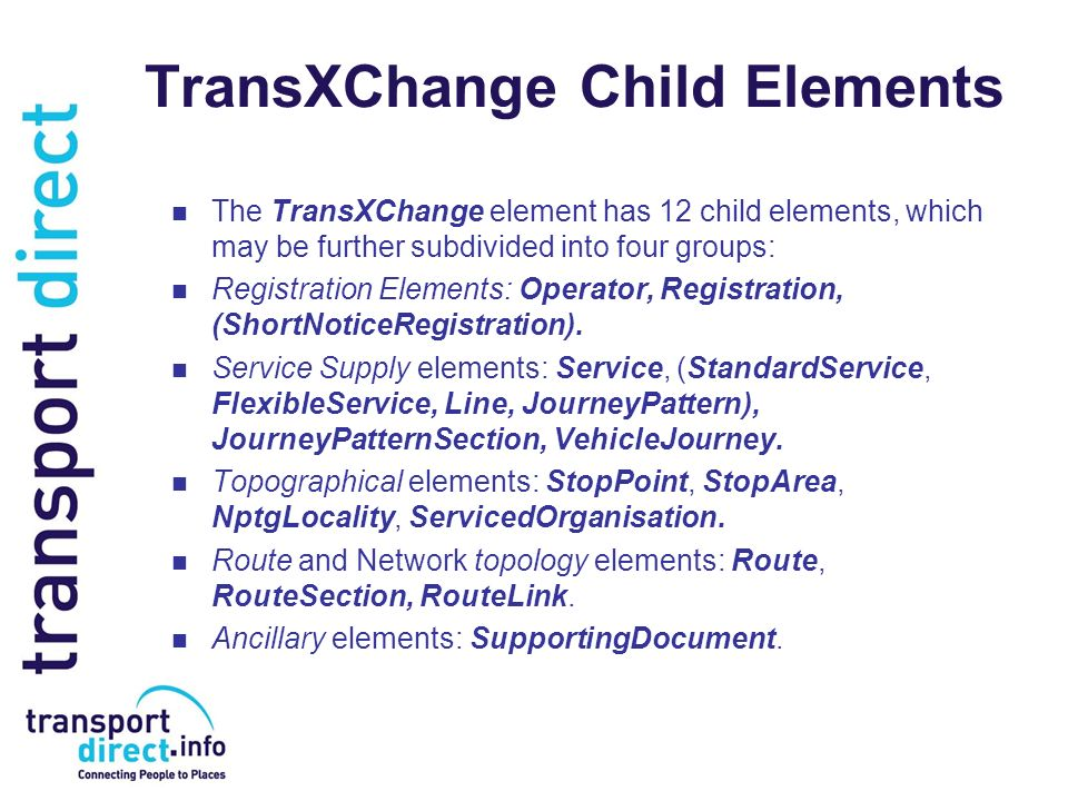 TransXChange Child Elements
