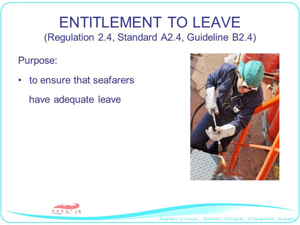 ENTITLEMENT TO LEAVE (Regulation 2.4, Standard A2.4, Guideline B2.4)