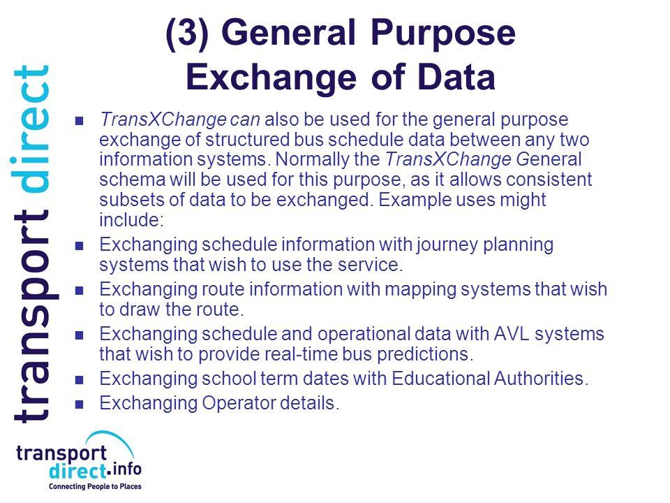 (3) General Purpose Exchange of Data