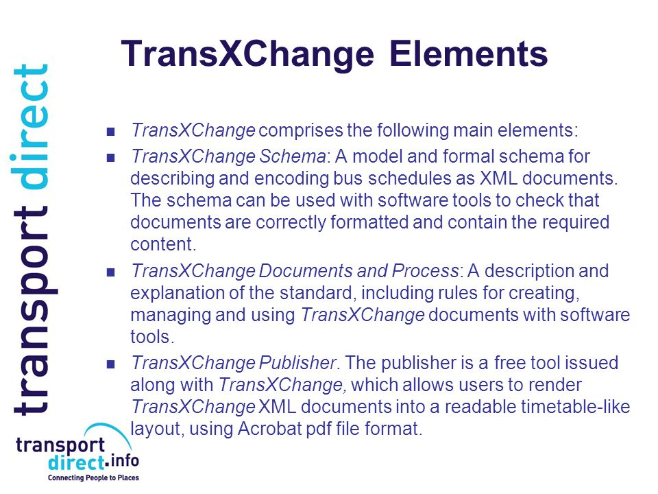 TransXChange Elements