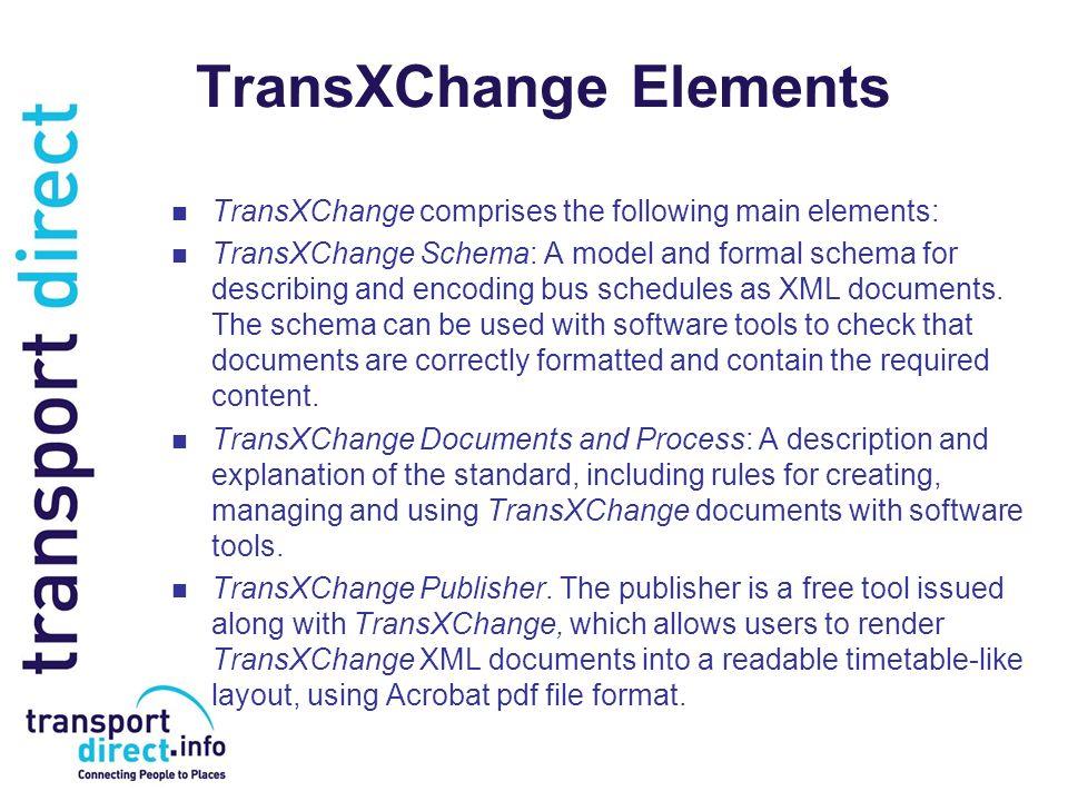 TransXChange Elements