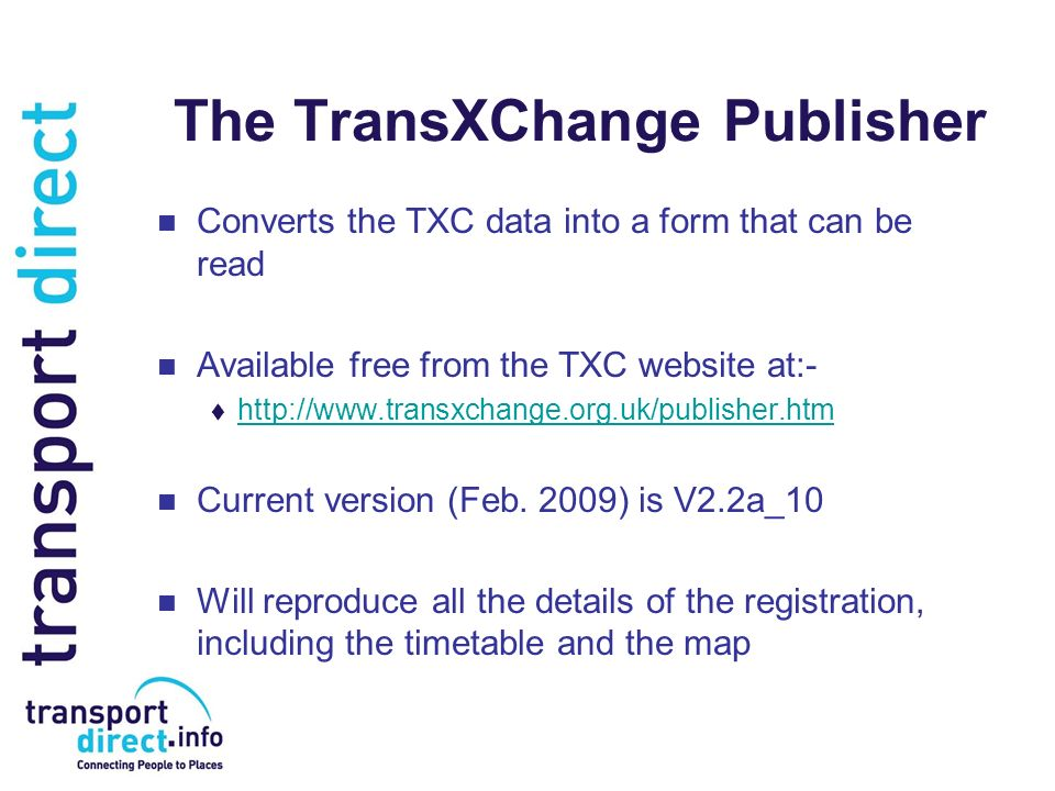 The TransXChange Publisher