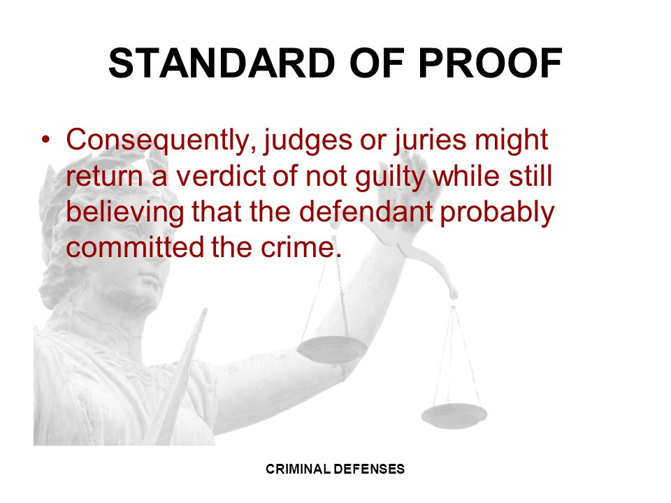 proof of not gulity verdict on What's the difference between an acquittal and a  a not-guilty verdict isn't the  criminal law information proof and defenses in.