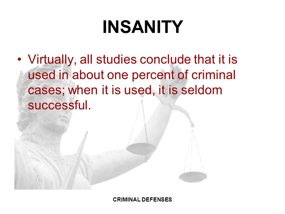 a study on criminal insanity The history of insanity as a defence to crime n in english criminal law topic in the criminal law has aroused more discussion than the question of the responsibility of the insane for crime.