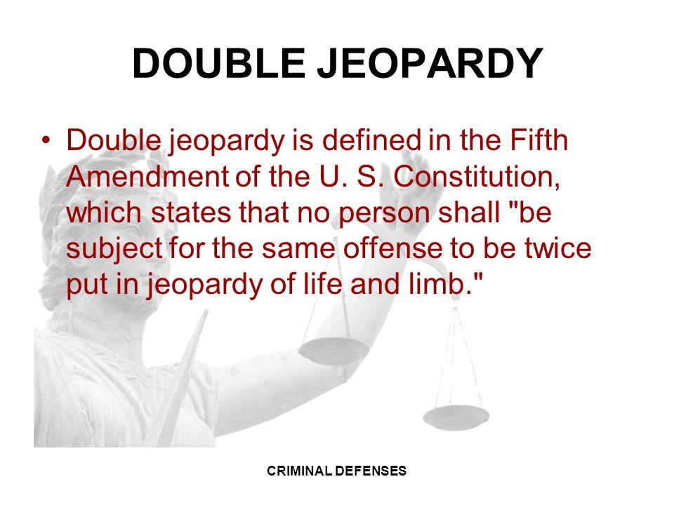 Double Jeopardy 5th Amendment LAW 1: CRIMINAL LAW CR...