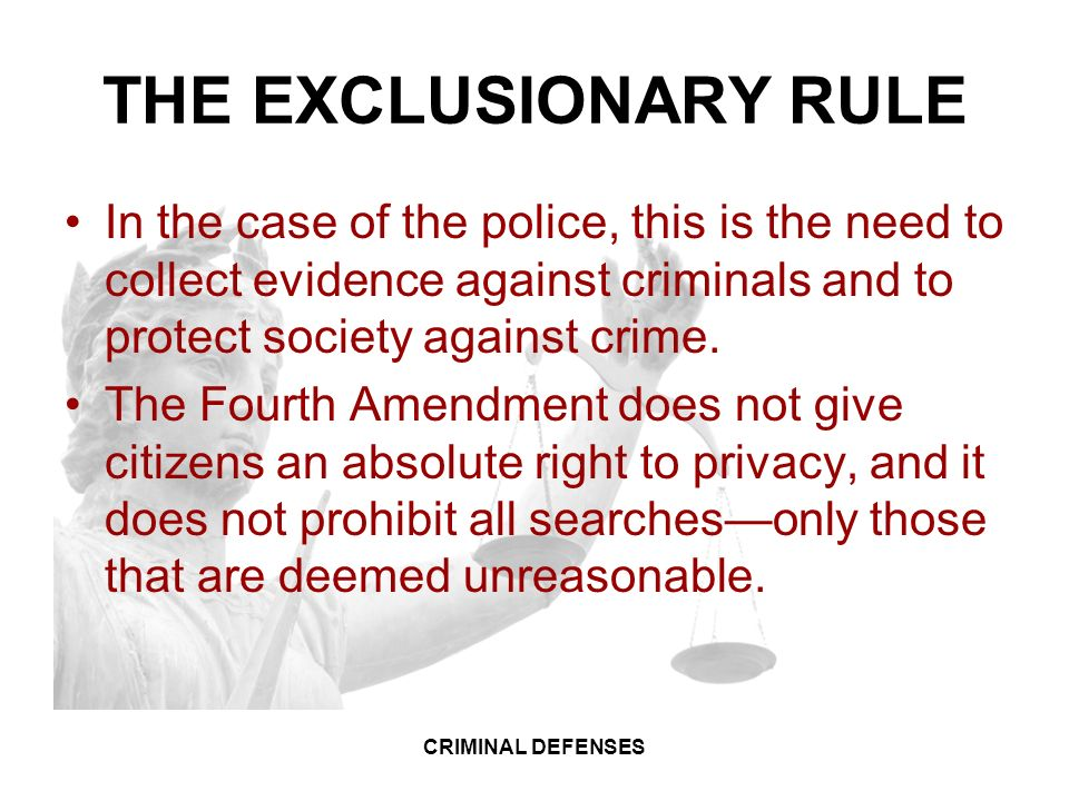 case study the exclusionary rule View essay - exclusionary rule case study from mcj 6257 at columbia southern university 1 case study case study columbia southern university 2 case study the exclusionary rule is not part of the.