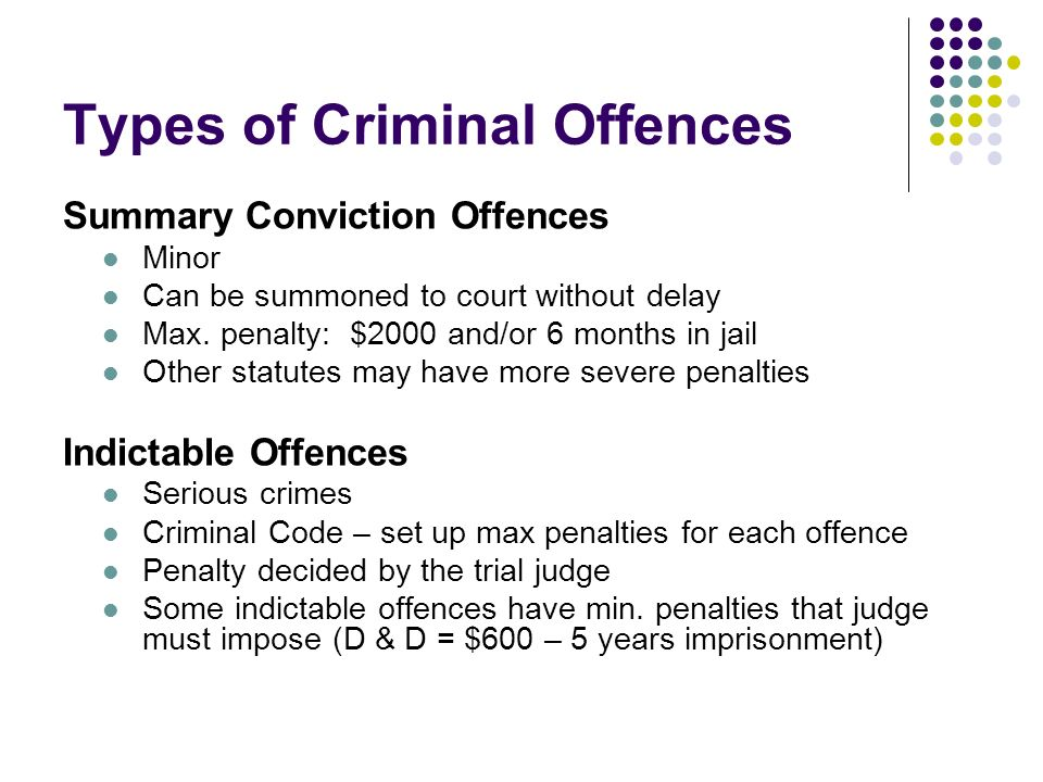 criminal law summary About criminal proceedings the superior court of justice is a superior court of  new criminal proceeding rules for summary conviction appeals came into.