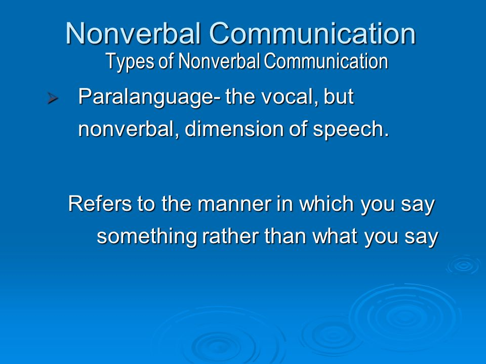 types of nonverbal communication pdf