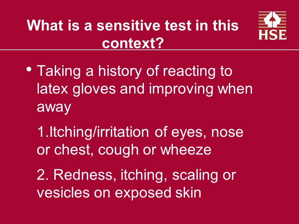 What is a sensitive test in this context