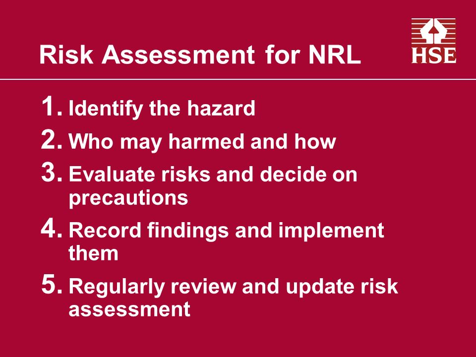 Risk Assessment for NRL