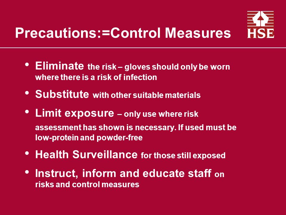 Precautions:=Control Measures