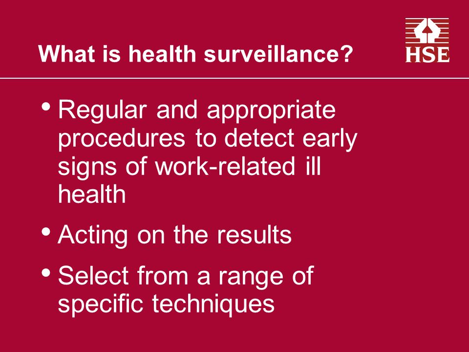 What is health surveillance