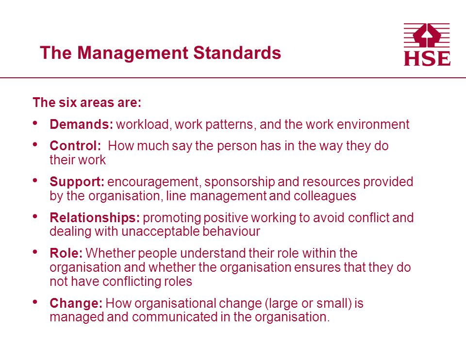 The Management Standards