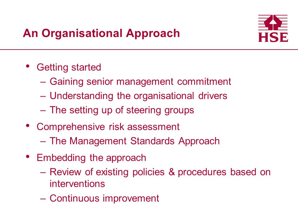 An Organisational Approach