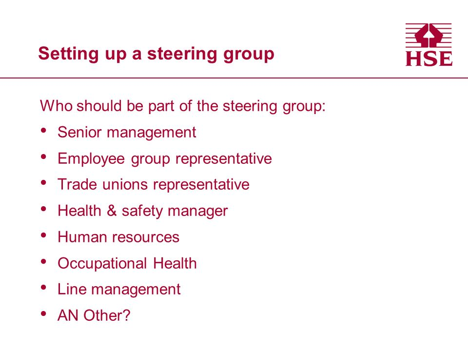 Setting up a steering group