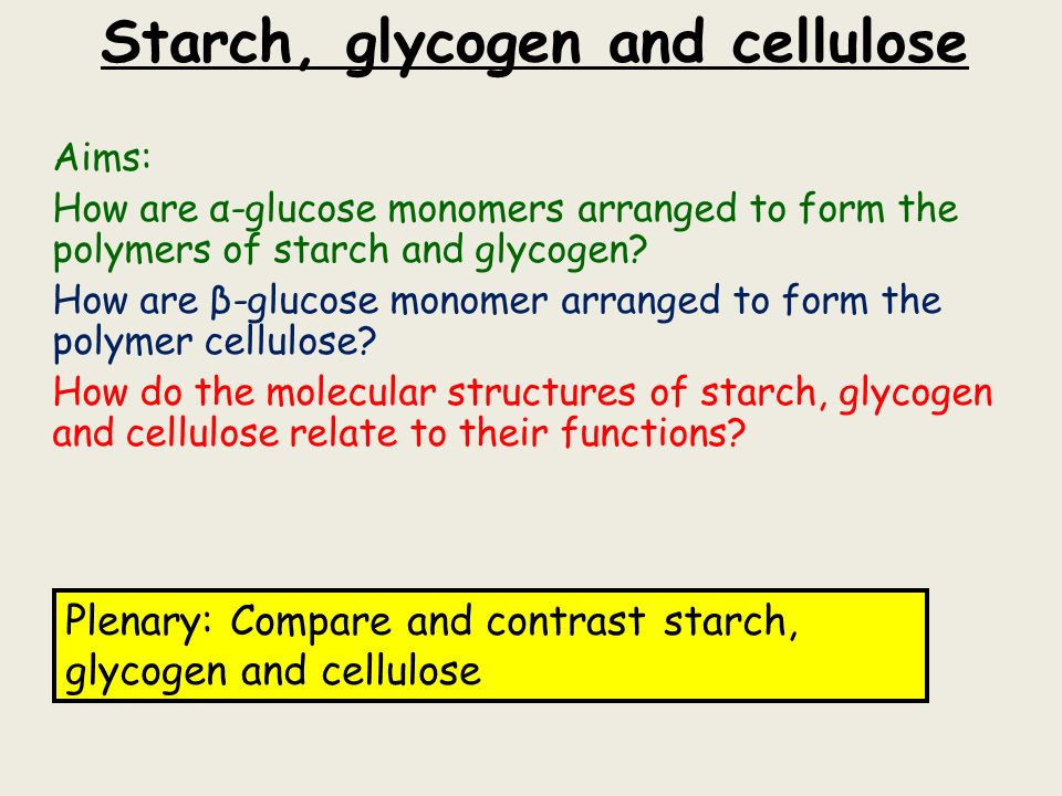 starch glycogen and cellulose Glycogen is a multibranched polysaccharide of glucose that serves as a form of energy storage in humans, animals, fungi, and bacteria [citation needed] the polysaccharide structure represents the main storage form of glucose in the body.
