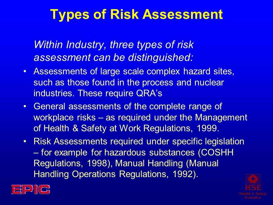 Types of Risk Assessment