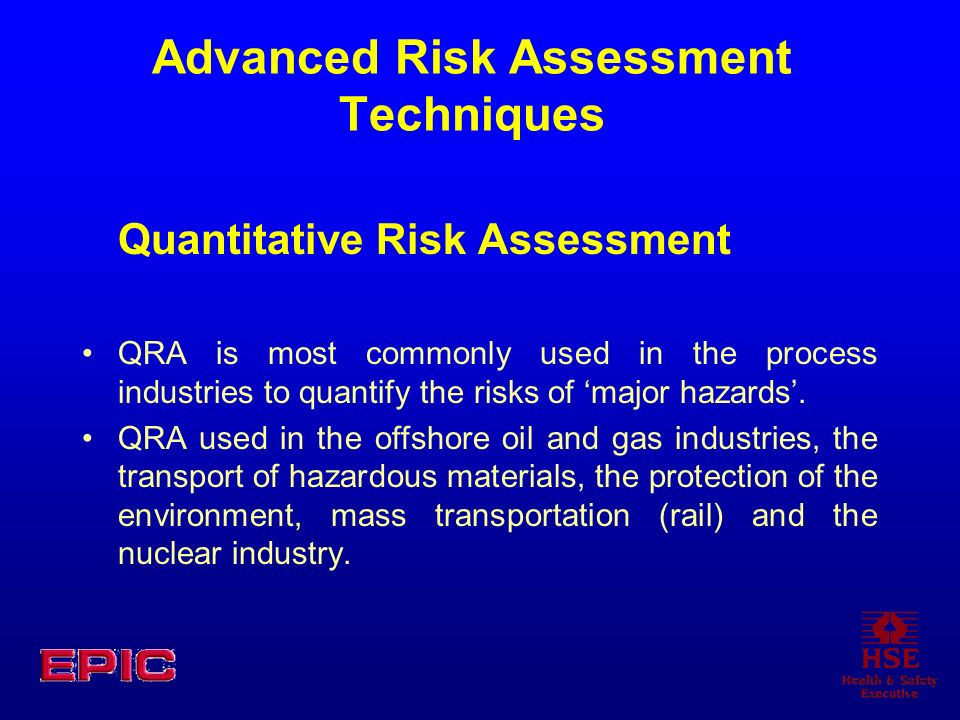 Advanced Risk Assessment Techniques