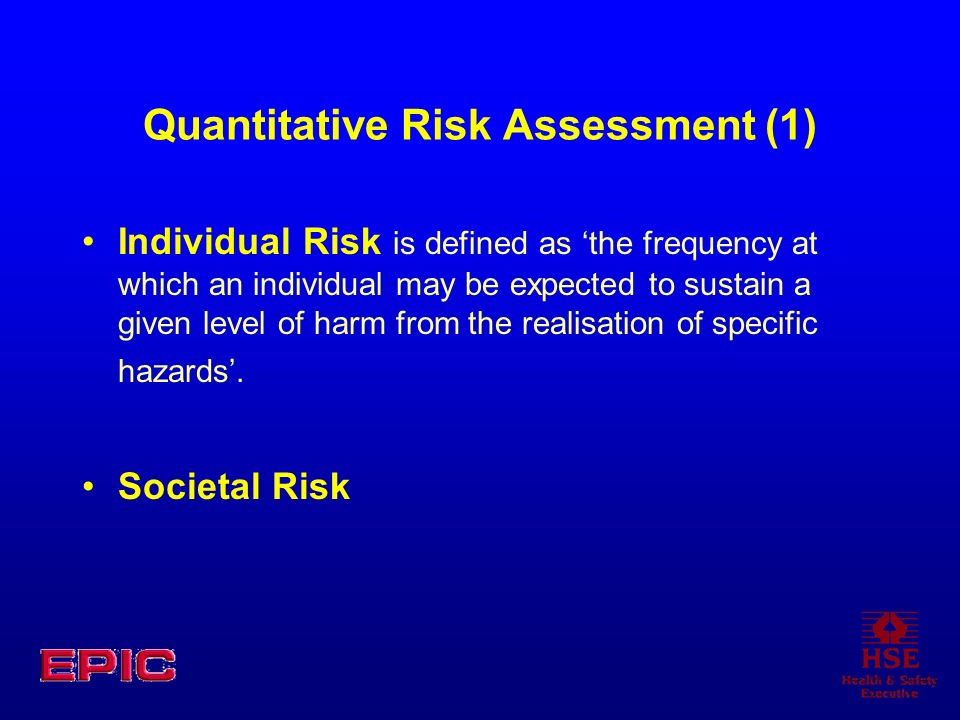 Quantitative Risk Assessment (1)
