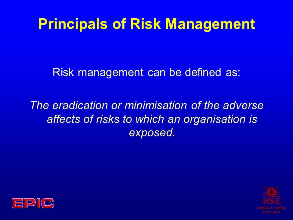 Principals of Risk Management