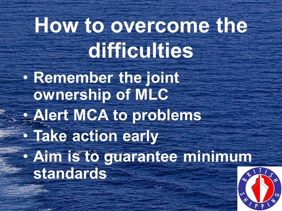 How to overcome the difficulties