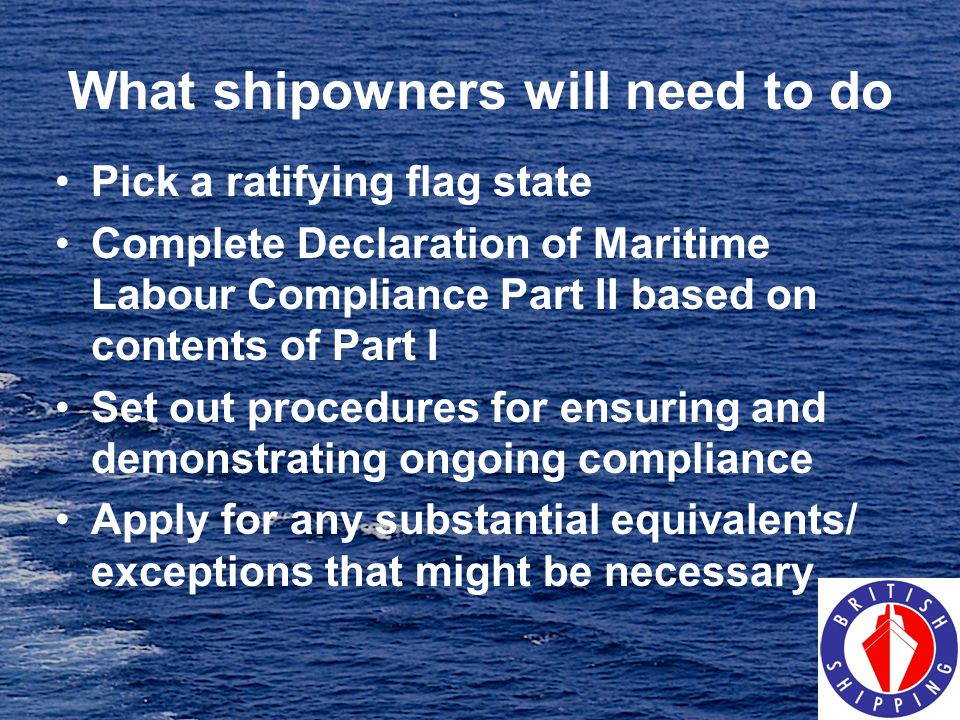 What shipowners will need to do