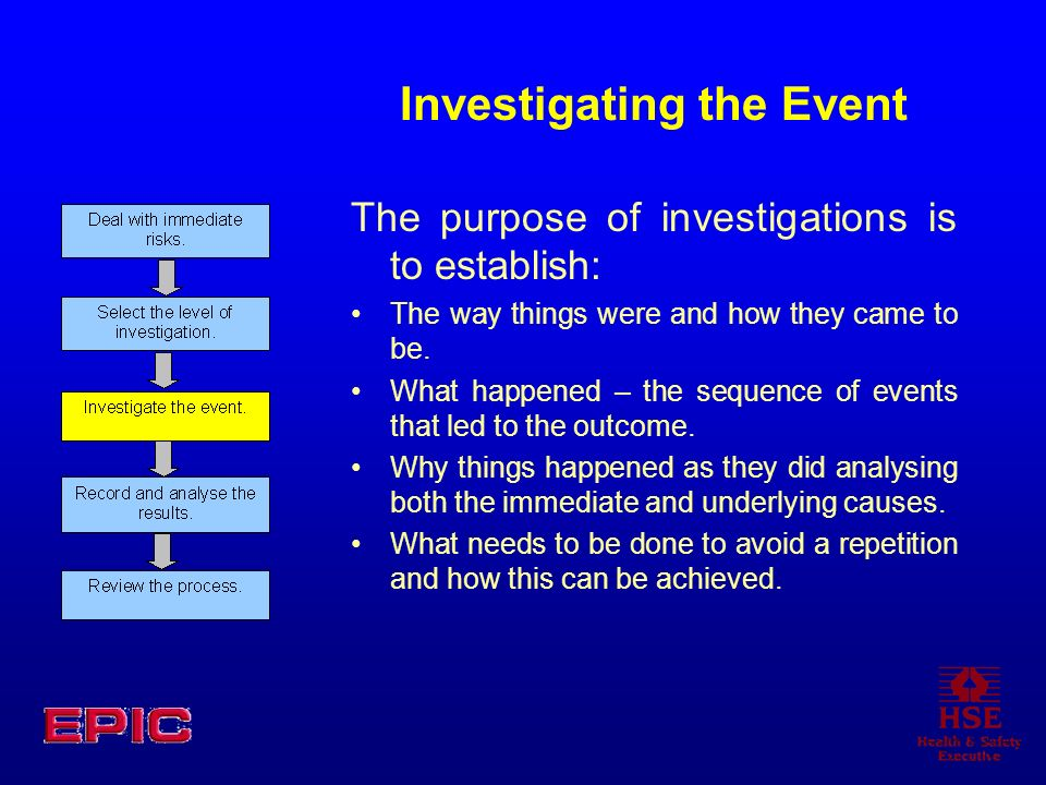 Investigating the Event