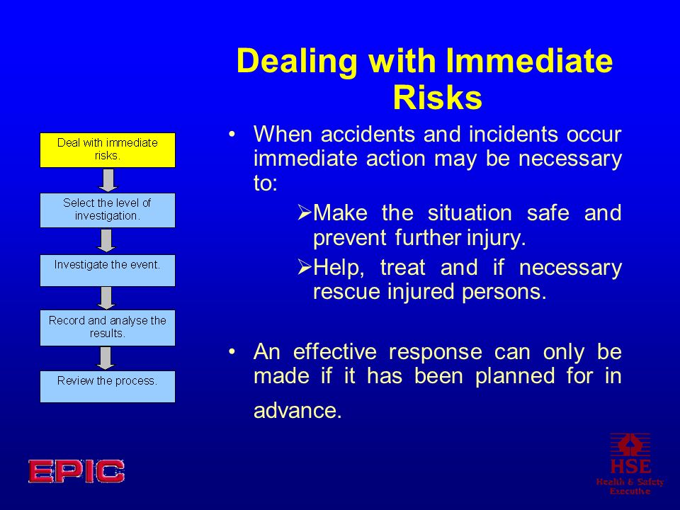 Dealing with Immediate Risks