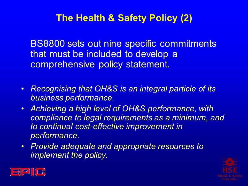 The Health & Safety Policy (2)