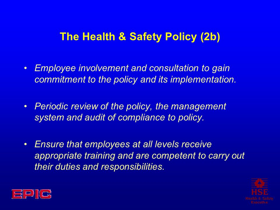 The Health & Safety Policy (2b)