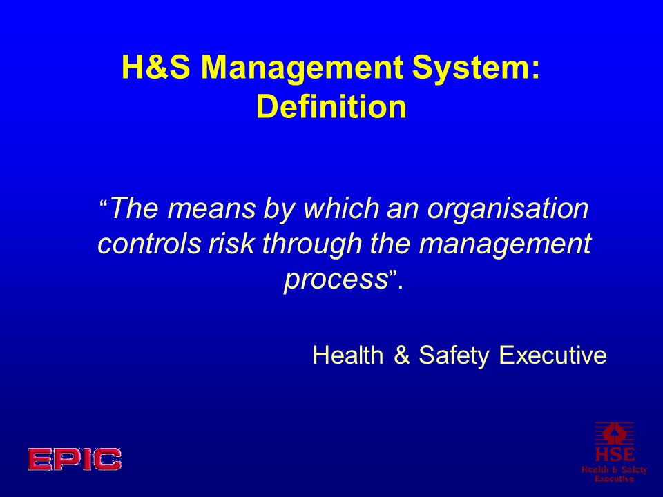 H&S Management System: Definition