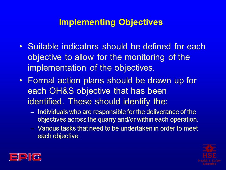 Implementing Objectives