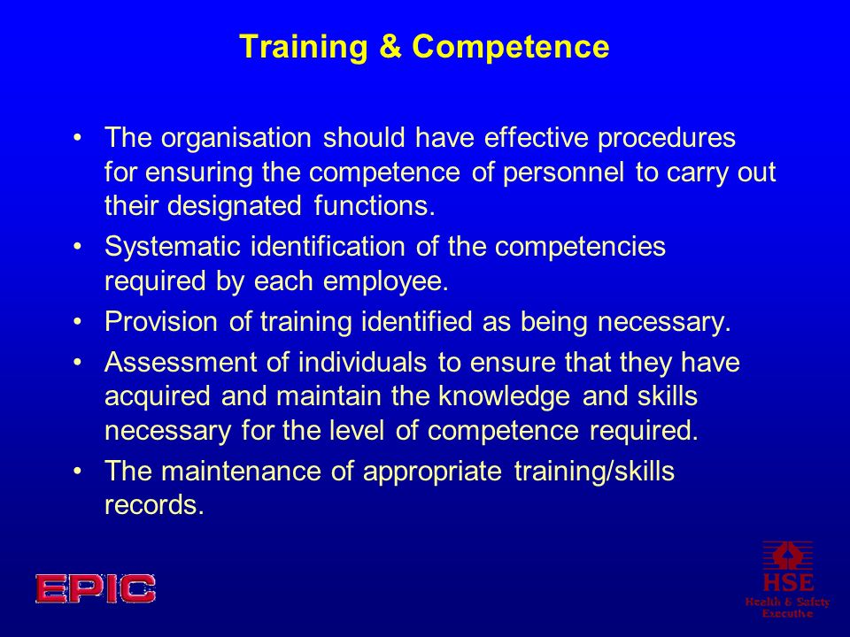Training & Competence