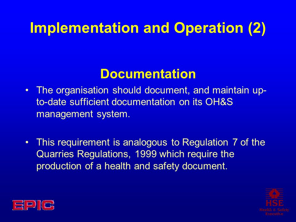 Implementation and Operation (2)