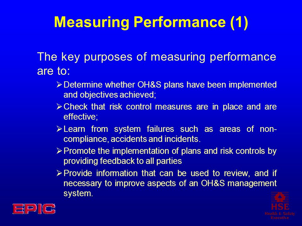 Measuring Performance (1)