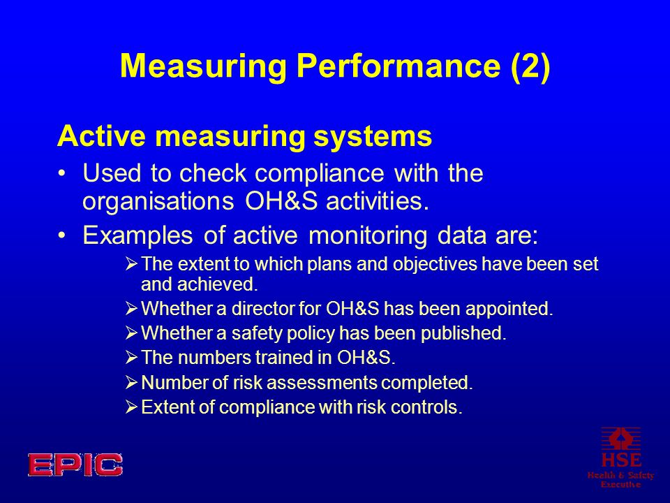 Measuring Performance (2)