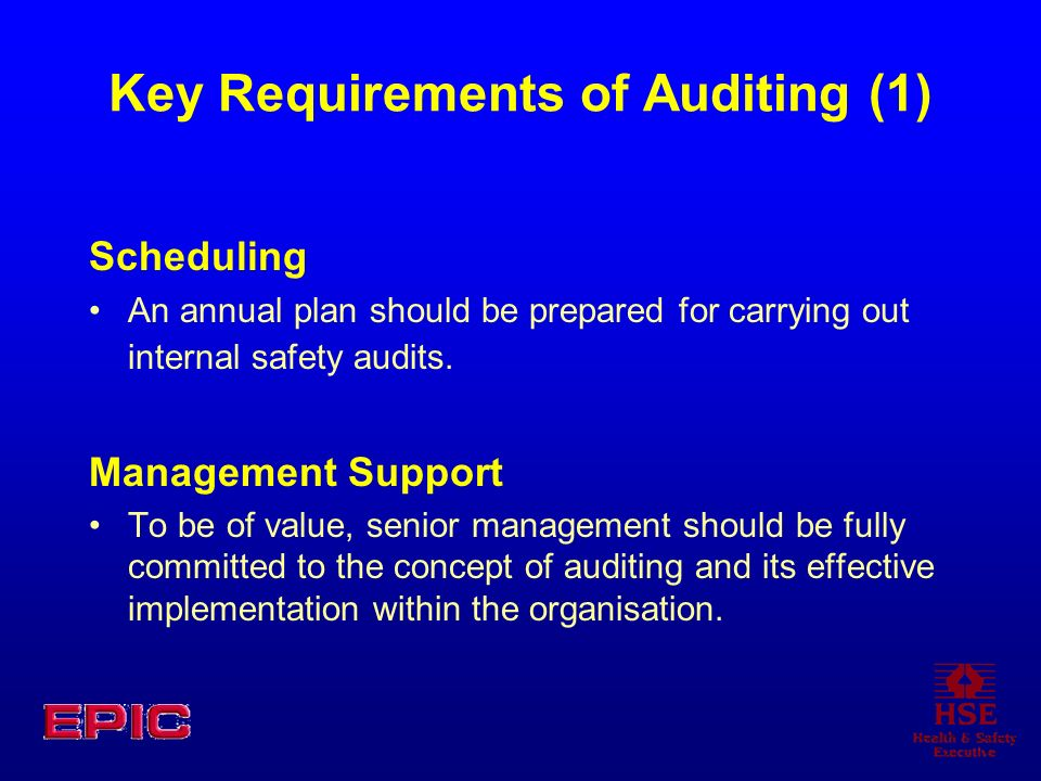 Key Requirements of Auditing (1)