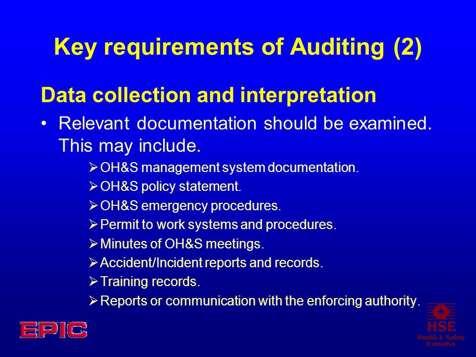 Key requirements of Auditing (2)