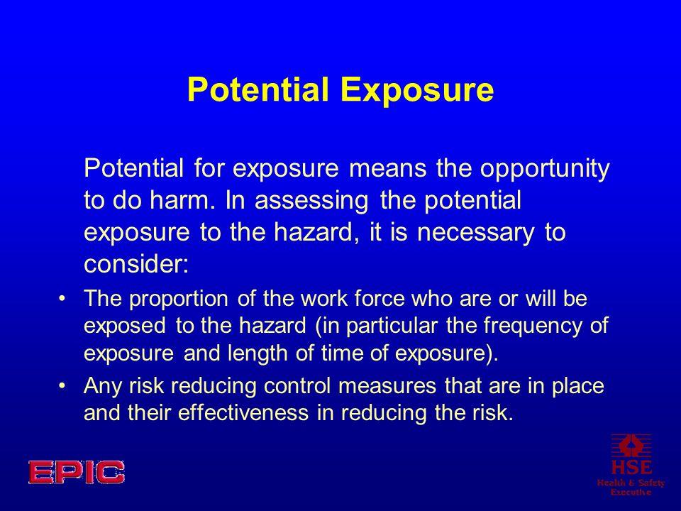 Potential Exposure