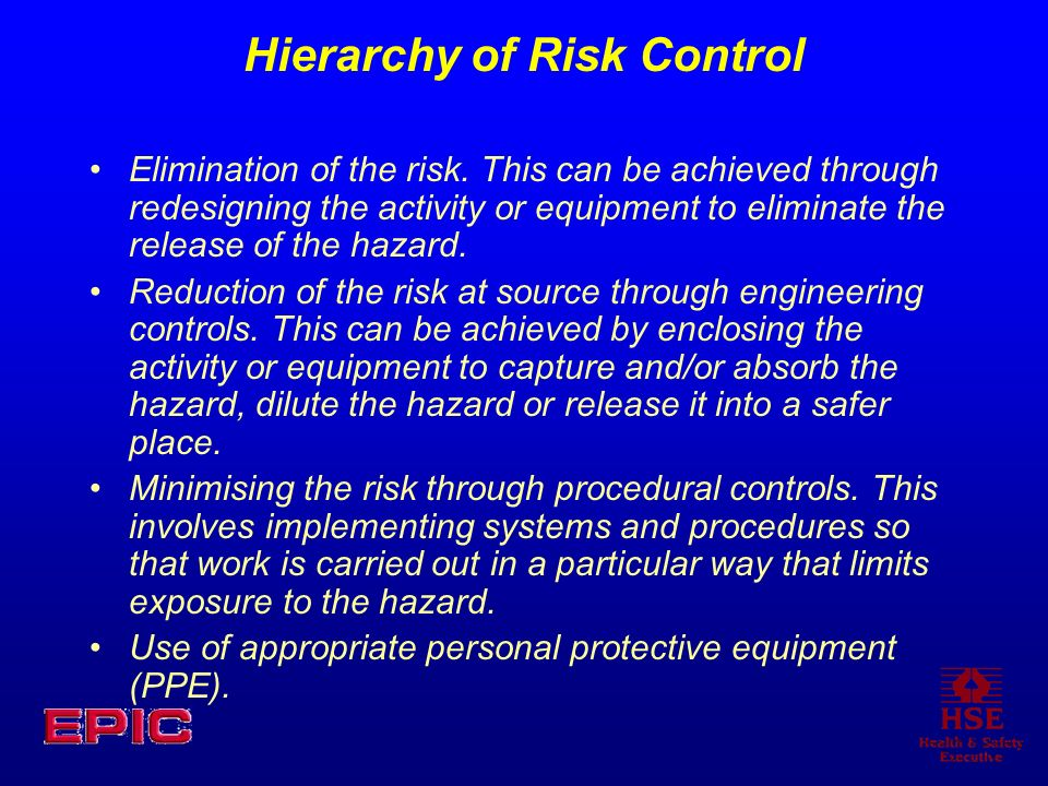 Hierarchy of Risk Control