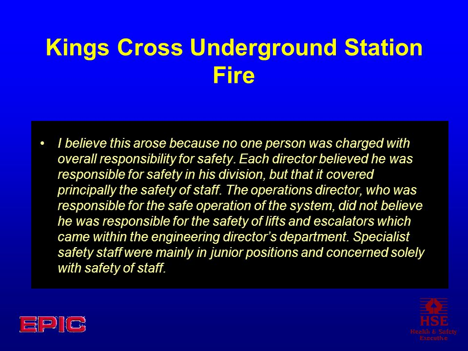Kings Cross Underground Station Fire