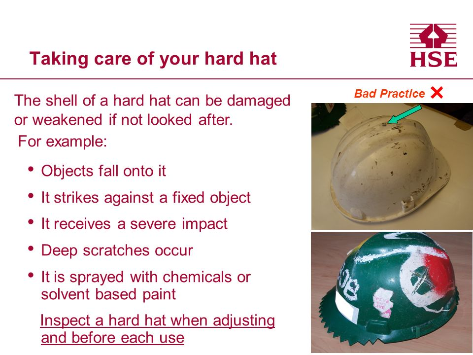 Taking care of your hard hat