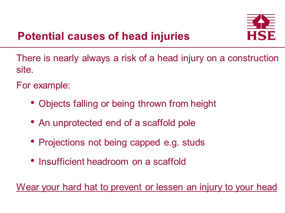 Potential causes of head injuries