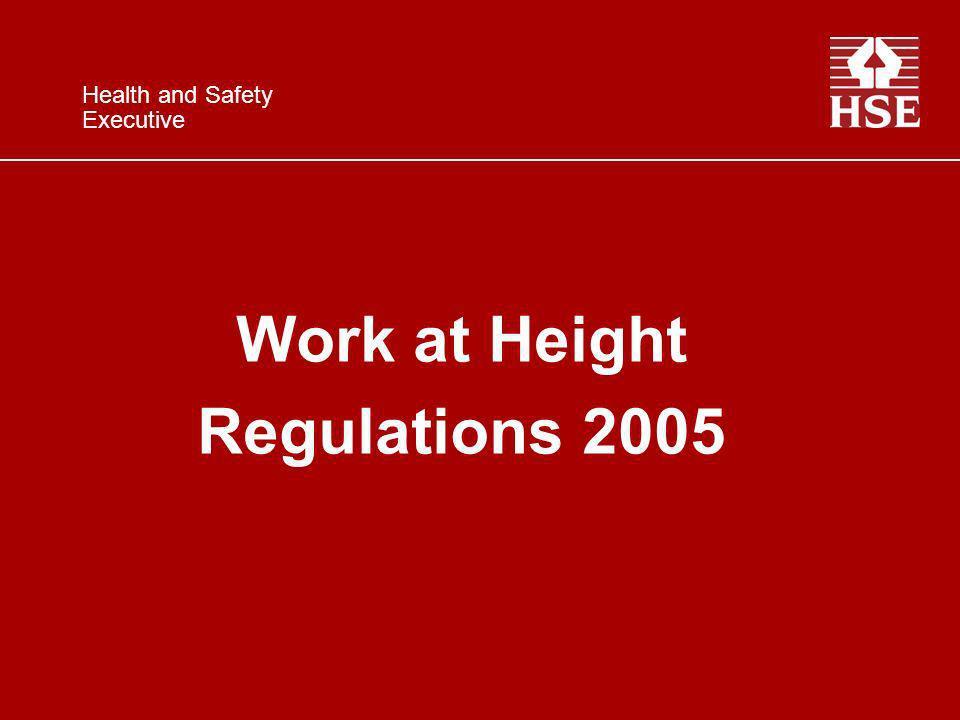 Work at Height Regulations 2005