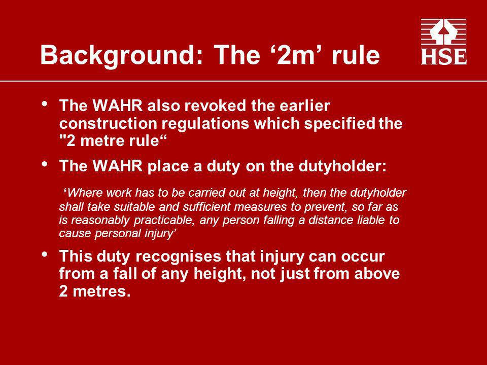 Background: The '2m' rule