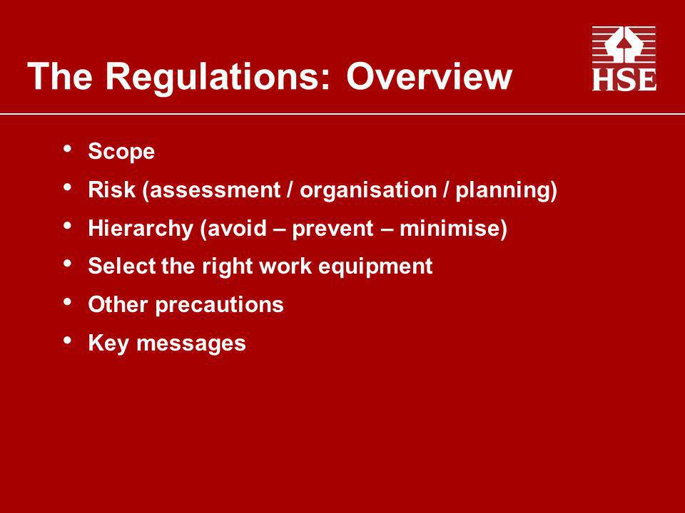 The Regulations: Overview