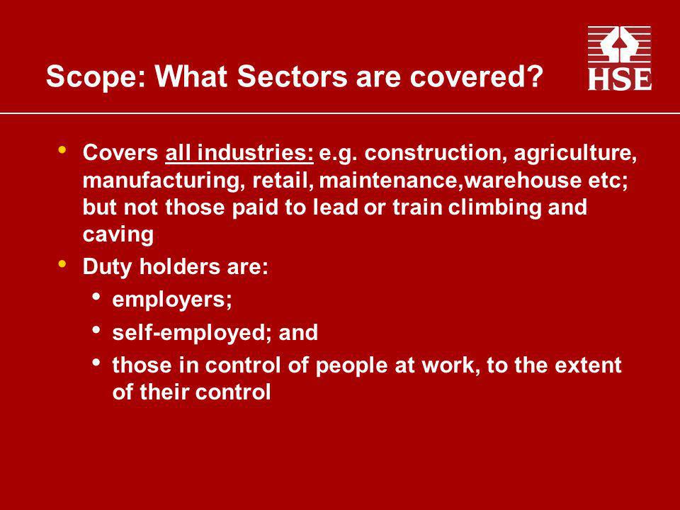 Scope: What Sectors are covered
