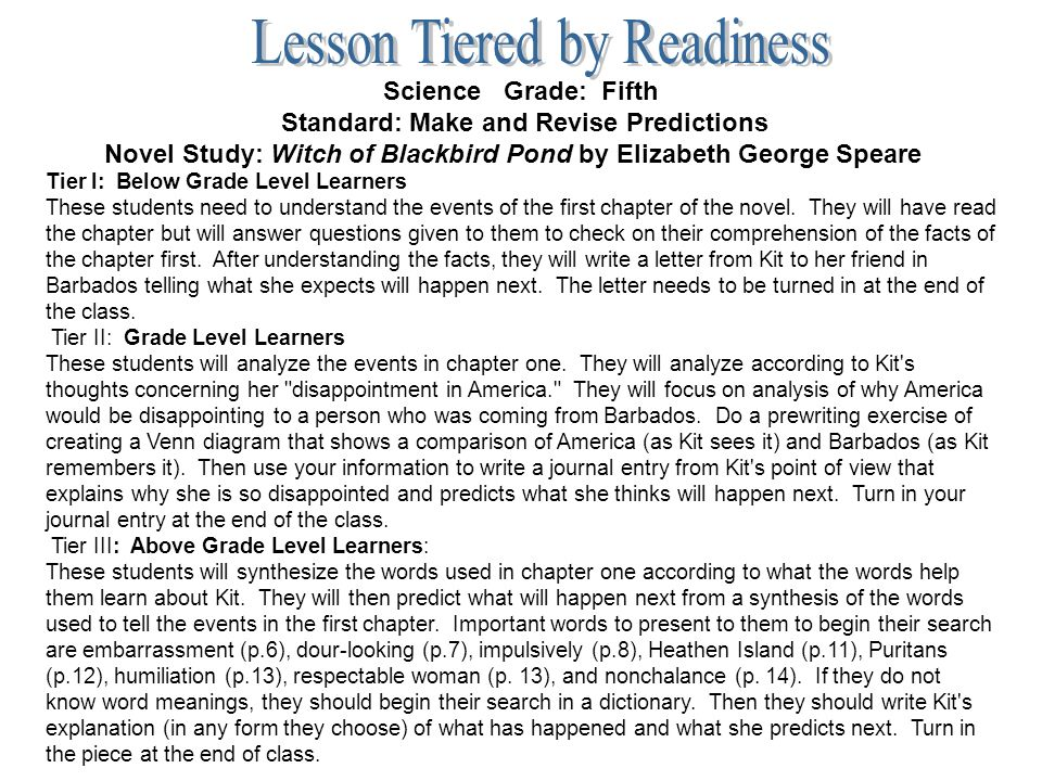 an analysis of themes in the witch of blackbird pond a novel by elizabeth george speare The country school english  the witch of blackbird pond by elizabeth george speare  _____ you need to create an invitation that reflects one of the themes.