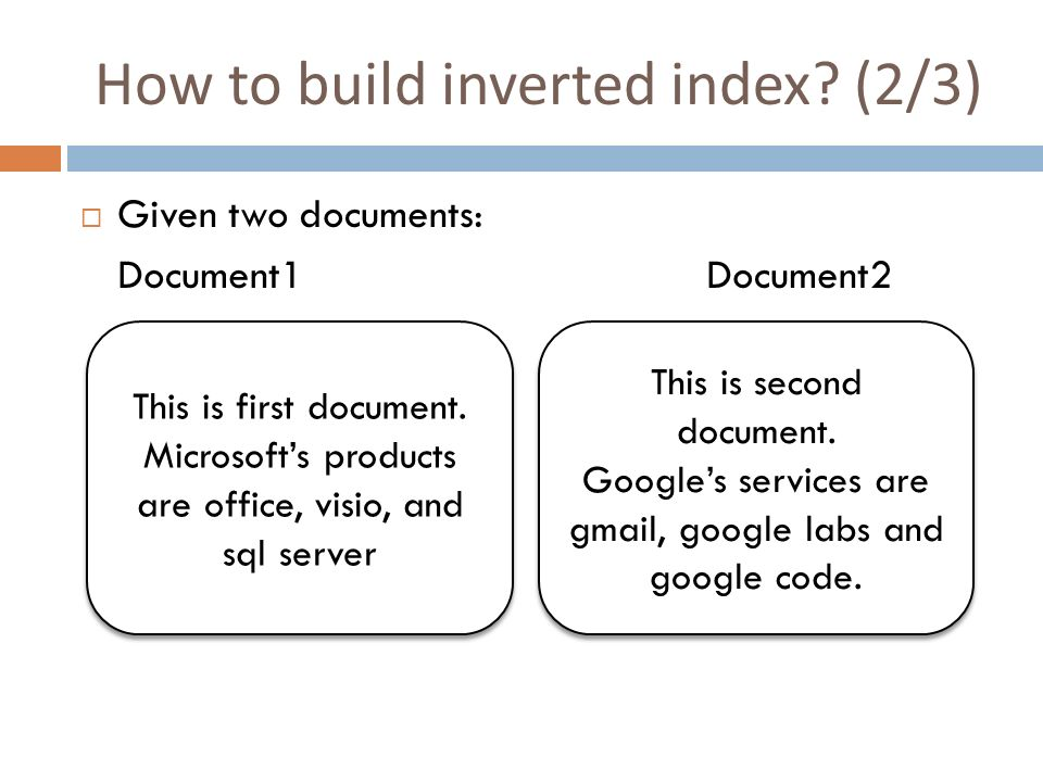 Code To Build Inverted Index