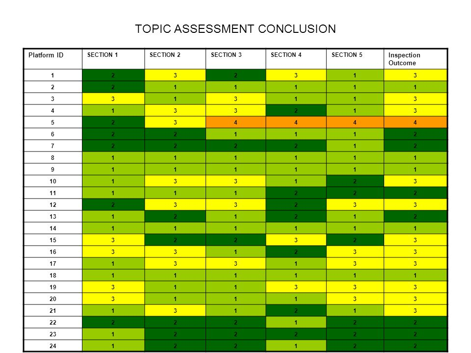 TOPIC ASSESSMENT CONCLUSION